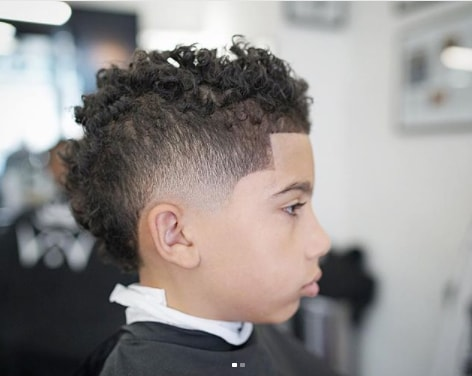 Messy Curls With Side Fade