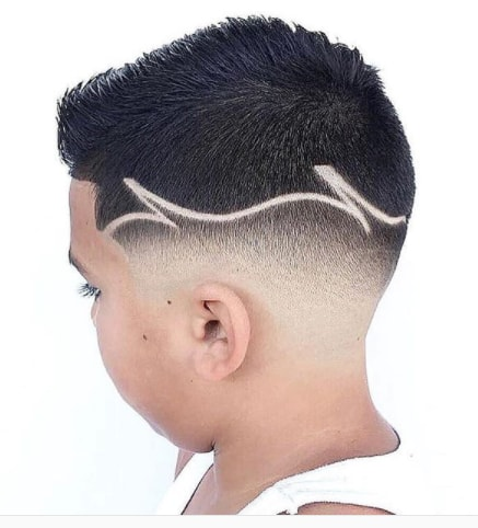 Short Side Swept Hair With Side Fade