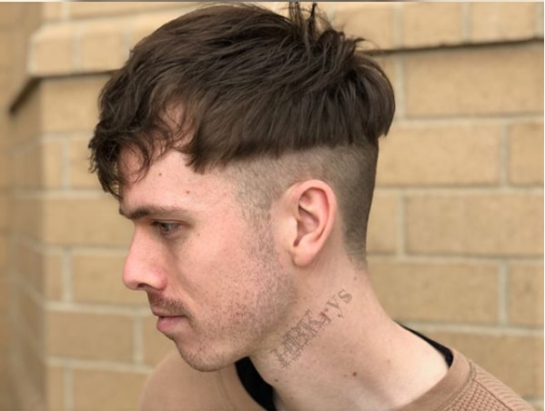 Bowl Cut With Messy Top