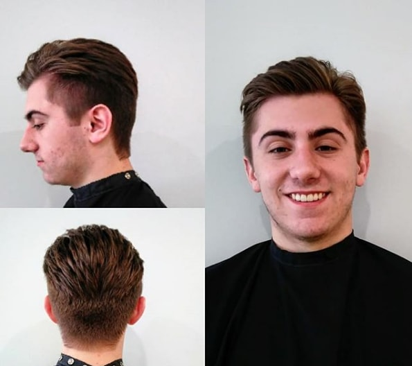 Comb Over Haircut With Side Fade