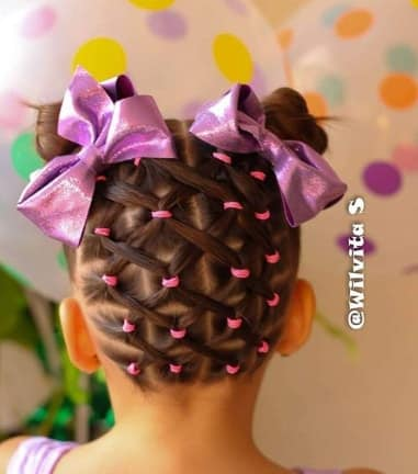 Boxed Braids With Pigtails
