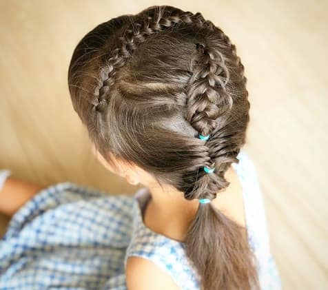 Braided Hair Band With Short Pony