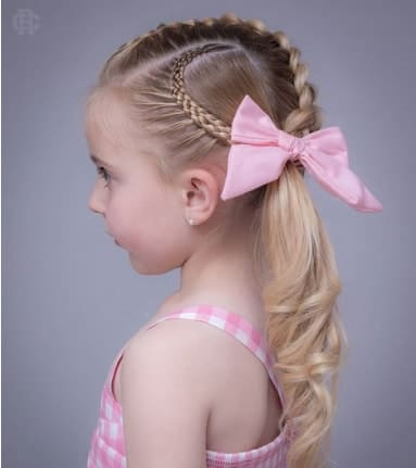 Braided Hairstyle With Long Ponytail