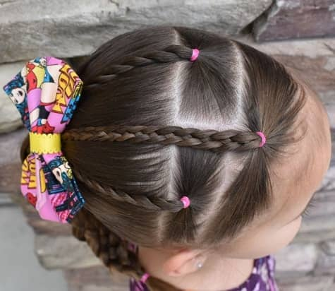 Braided Hairstyle With Ponytail