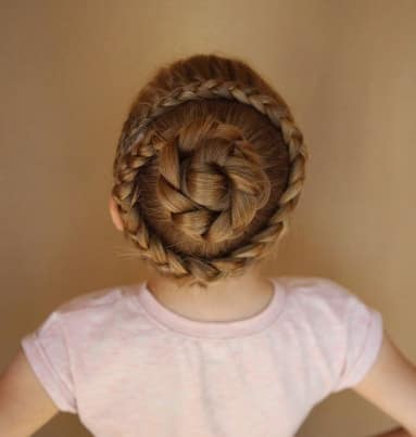 Braided Hairstyle With Thick Braided Bun