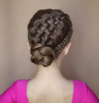 Braided Hairstyle With Twisted Bun