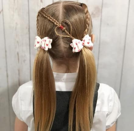 Center Parted Braided Hairstyle