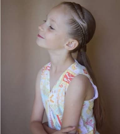 Combed Back Hair With Side Braid