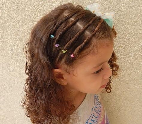 Horizontal Braids With Curly Hair