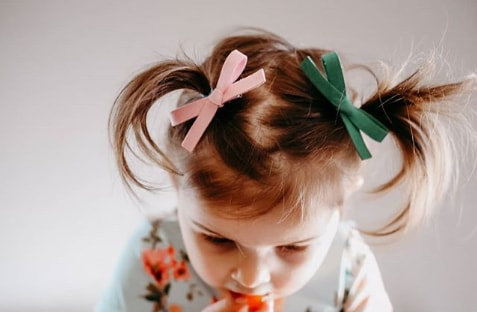 Ribbon Bun Hairstyle for Toddlers