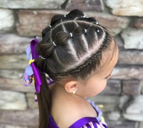 Sectioned Pony Style With Braided Crown
