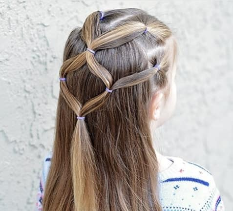 Stylish Ponytail With Open Hair On The Back