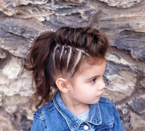 Thick Braided Hairstyle With Ponytail