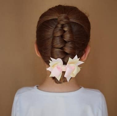 Twisted Back Hairstyle