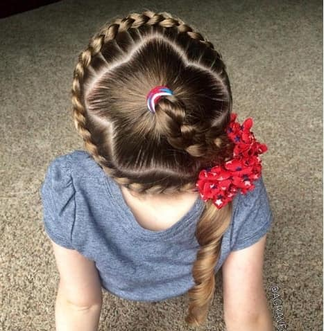 Braided Crown With A Cute Braided Ponytail