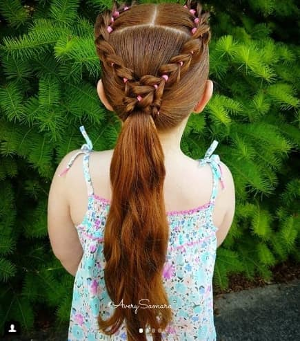 Braided Crown With Long Ponytail