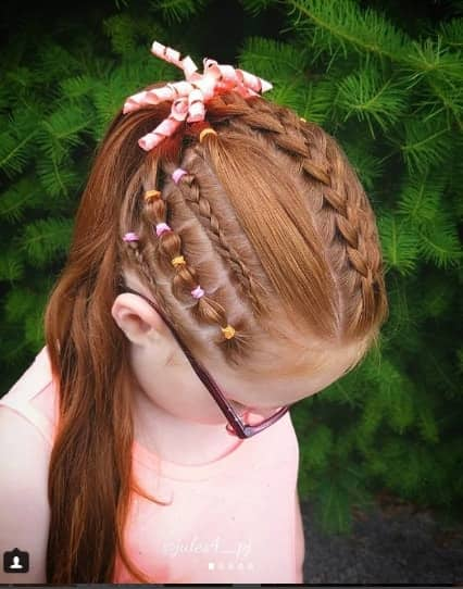 Braided Top And Sides With Long Ponytail