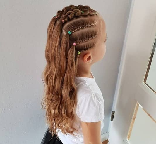 Braided Top With Long Hair At The Back