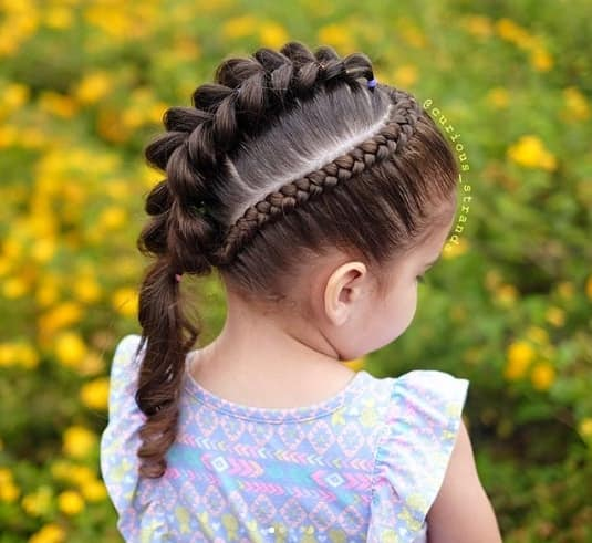 Braided Top With Thick Centre Braid