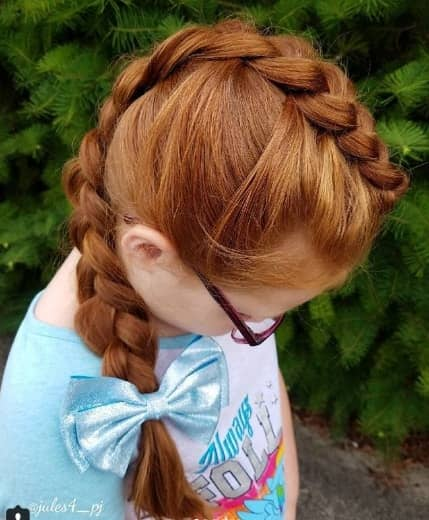 Centre Braided Ponytail