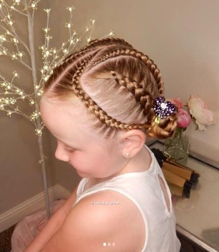 Centre Parted Hairstyle With Cool Braided Look