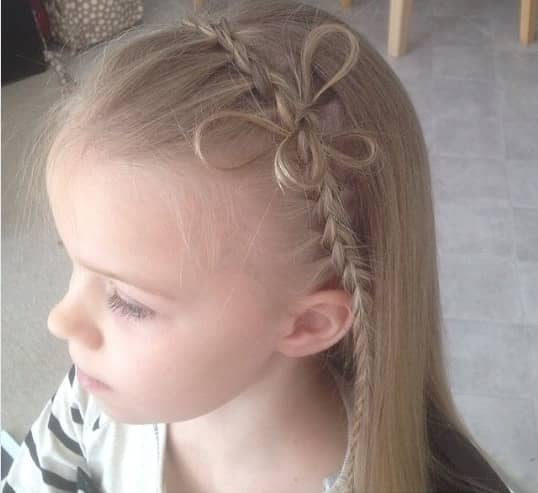 Combed Back Hair With Horizontal Braid