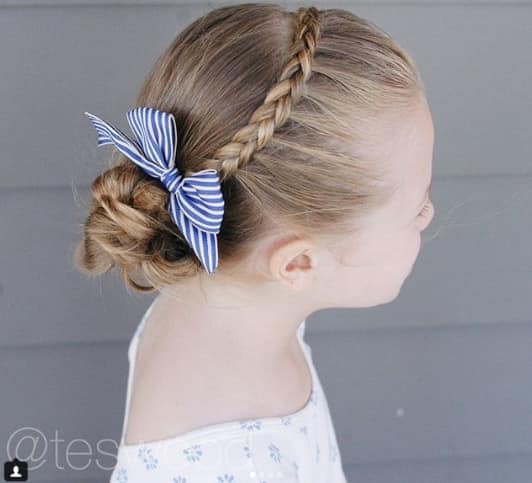 Combed Back Hairstyle With Braided Bun