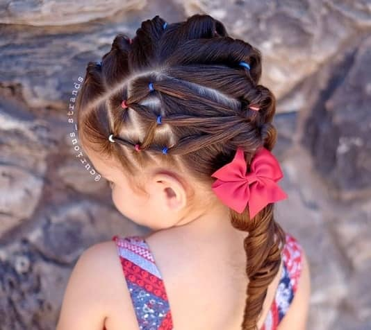 Cool Hair Design With Swirling Ponytail