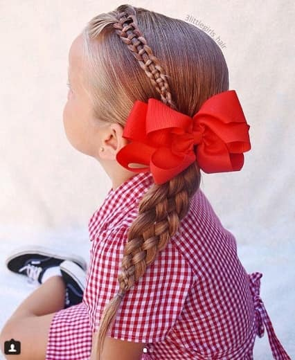 Cross Braided Hairstyle With Ponytail
