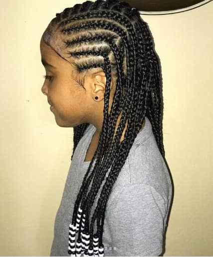 Fully Braided Hairstyle