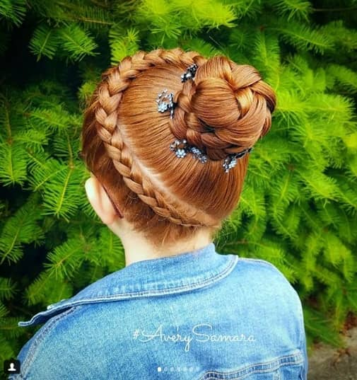 Half Crown With A Braided Bun