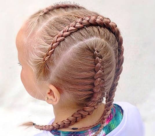 Horizontal Braided Patches On Top