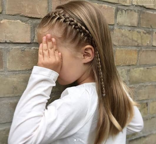 Long Hairstyle With Braided Fringe