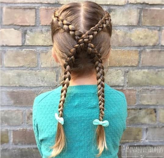 Simple Cross Braided Hairstyle