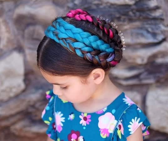 Thick Braided Design With Coloured Highlights