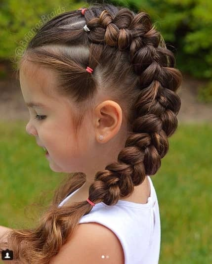 Thick Braided Ponytail