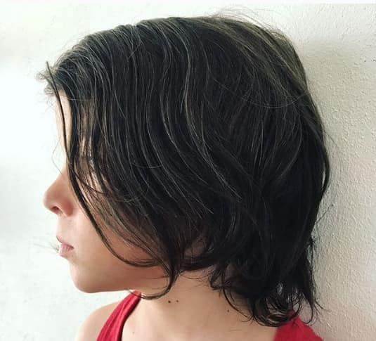 Wavy Side Swept Hairstyle