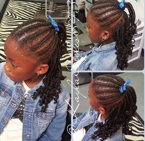 Box Braids With A Ponytail