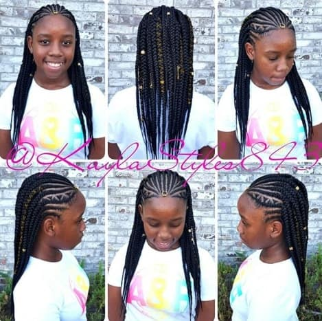Cornrows - Box Braids for Kids