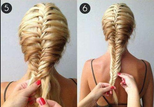 Easy Fishtail Braid Fourth and Fifth Positions