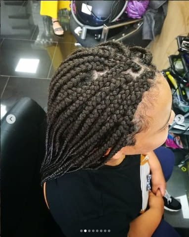 Swept Back Braids