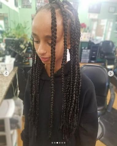 Waterfall Box Braids