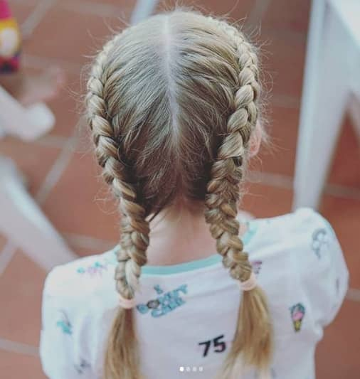 two french braids crown for little