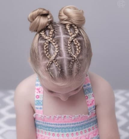 Braided Chain On Top With Pigtails