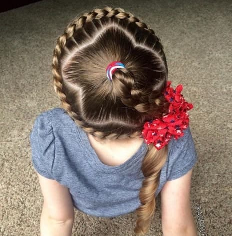 Braided Crown With A Stylish Hair Part