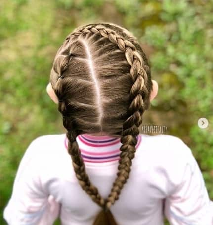 Braided Hairstyle With Angled Part