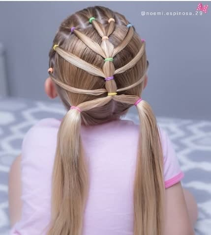 Braided Hairstyle With Pigtails
