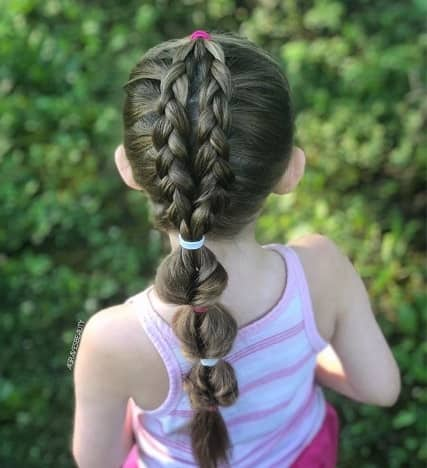 Braided Hairstyle With Sectioned Ponytail