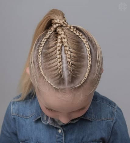 Cool Braided Top With Raised Up Ponytail