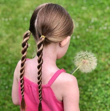 Long Combed Back Hair With Braided Pigtails